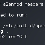Invalid command 'Header'