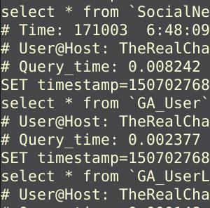 Не працює slow_query_log - пише багато записів